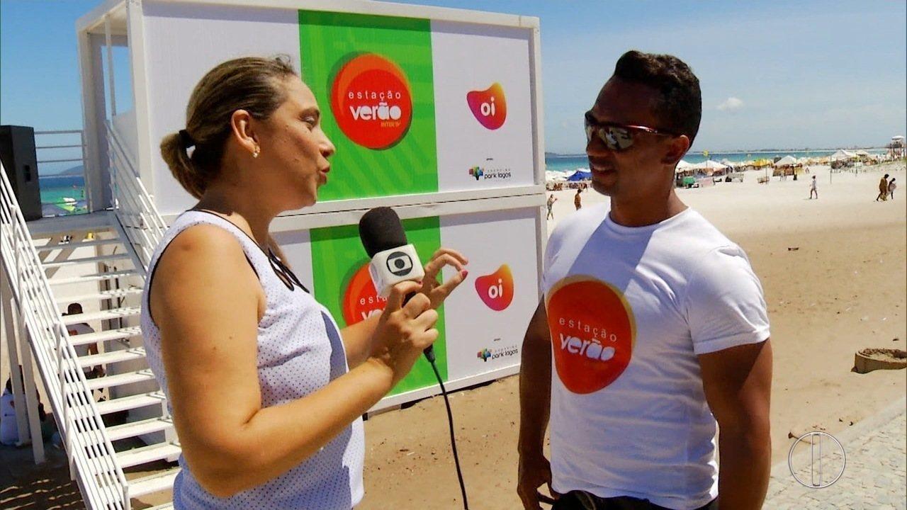 Produtor do Estação Verão em entrevista à repórter Cláudia Almeida