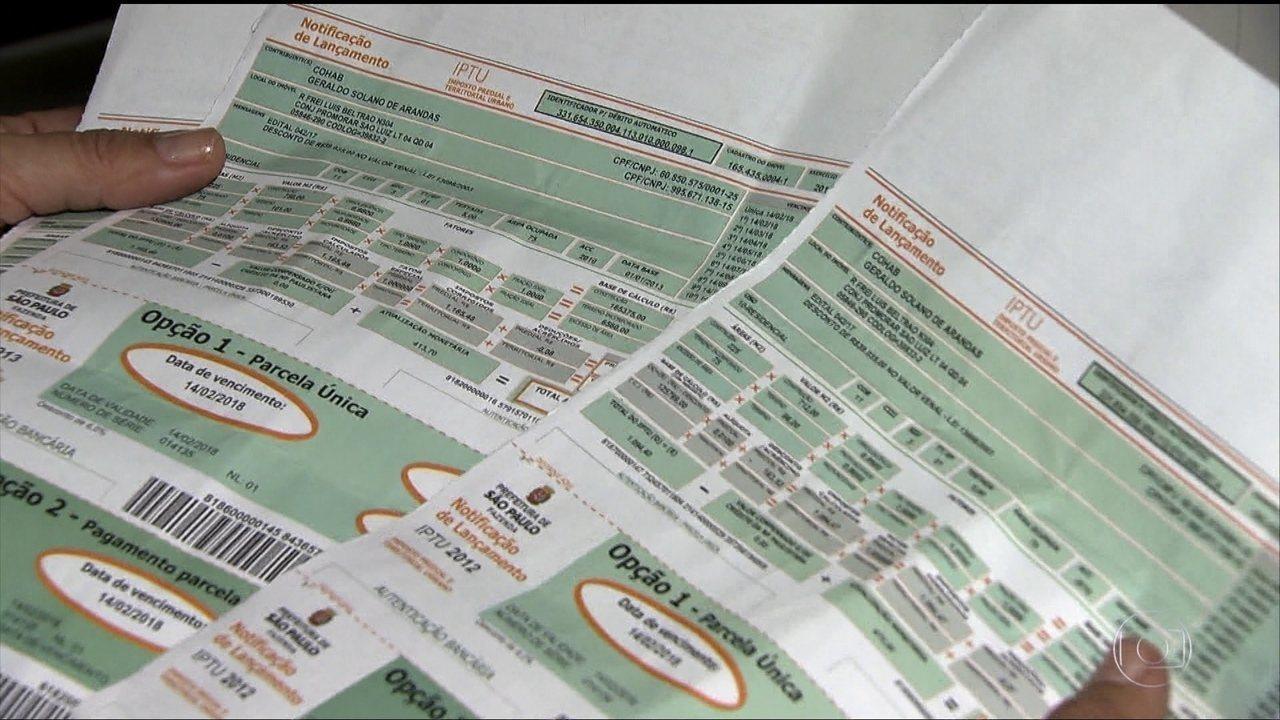 São José distribui carnês do IPTU 2018; imposto teve reajuste de 9,16%
