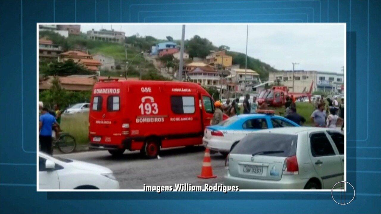 Ciclista morre em acidente na RJ-140, em São Pedro da Aldeia, no RJ