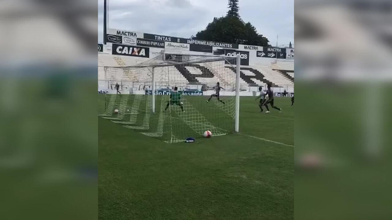 O gol de Ponte Preta 1 x 0 RB Brasil em jogo-treino nesta sexta-feira