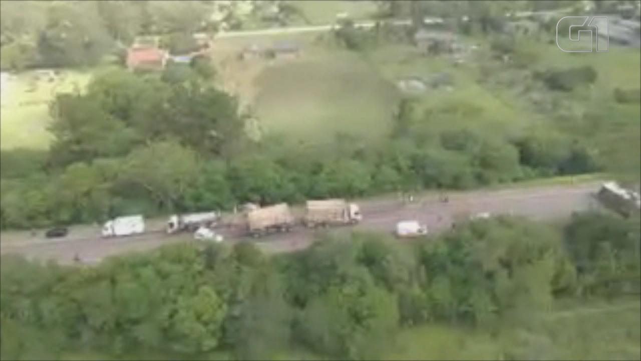 Imagens aéreas mostram acidente com mortes em Eldorado do Sul