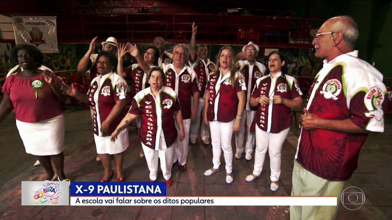 X-9 Paulistana fala sobre ditos populares no Carnaval 2018
