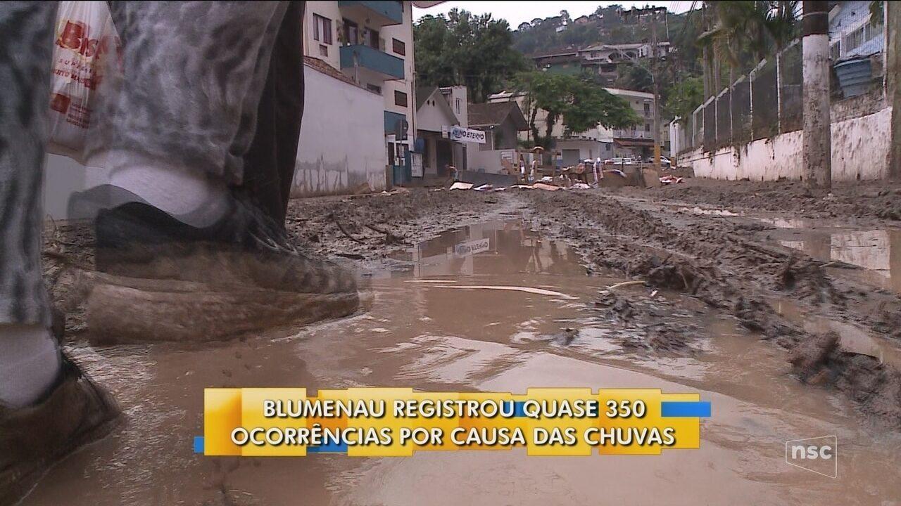 Blumenau decreta situação de emergência após fortes chuvas
