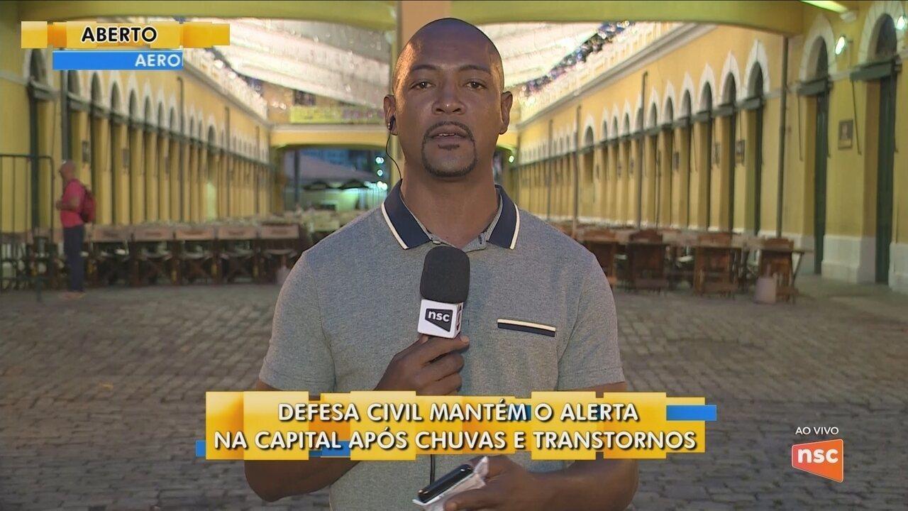 Defesa Civil mantém alerta na capital após transtornos com as chuvas