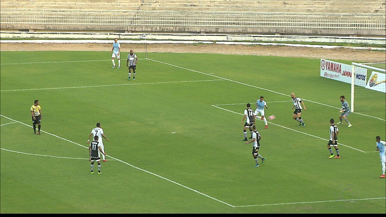 Henrique marca de letra para o CSP contra o Botafogo-PB