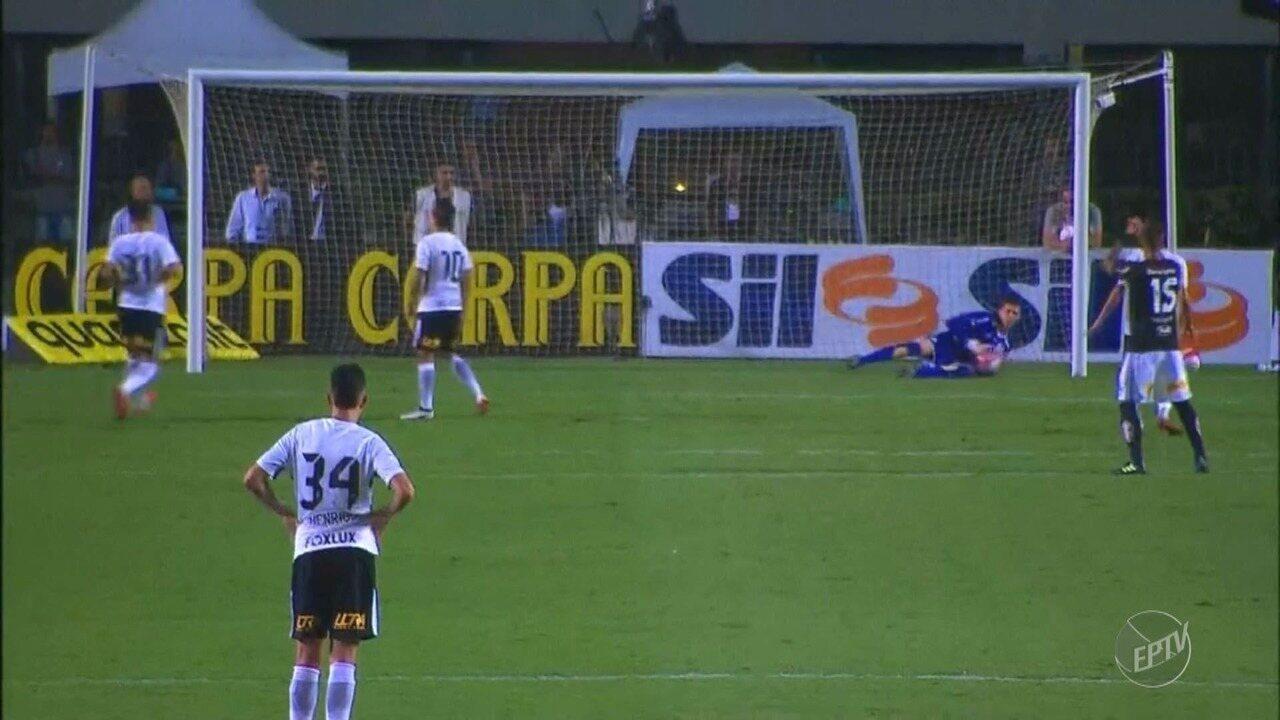 Veja principais lances entre partida da Ponte Preta contra o Corinthians