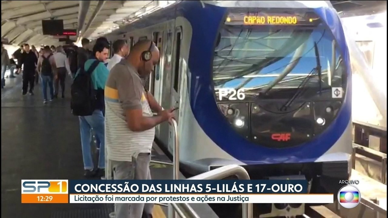 Consórcio Via Mobilidade vence leilão e vai operar linhas 5-Lilás e 17-Ouro
