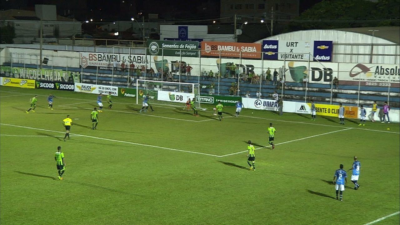 Os gols de URT 1 x 1 América-MG pelo Campeonato Mineiro
