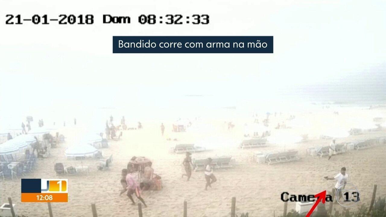 Polícia já tem imagens de bandido que atirou na Praia da Reserva