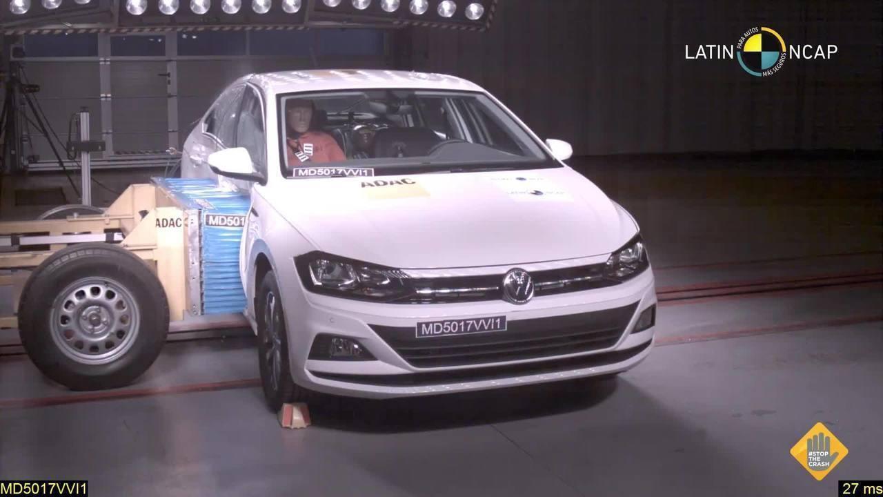 Volkswagen Virtus leva 5 estrelas em teste de colisão