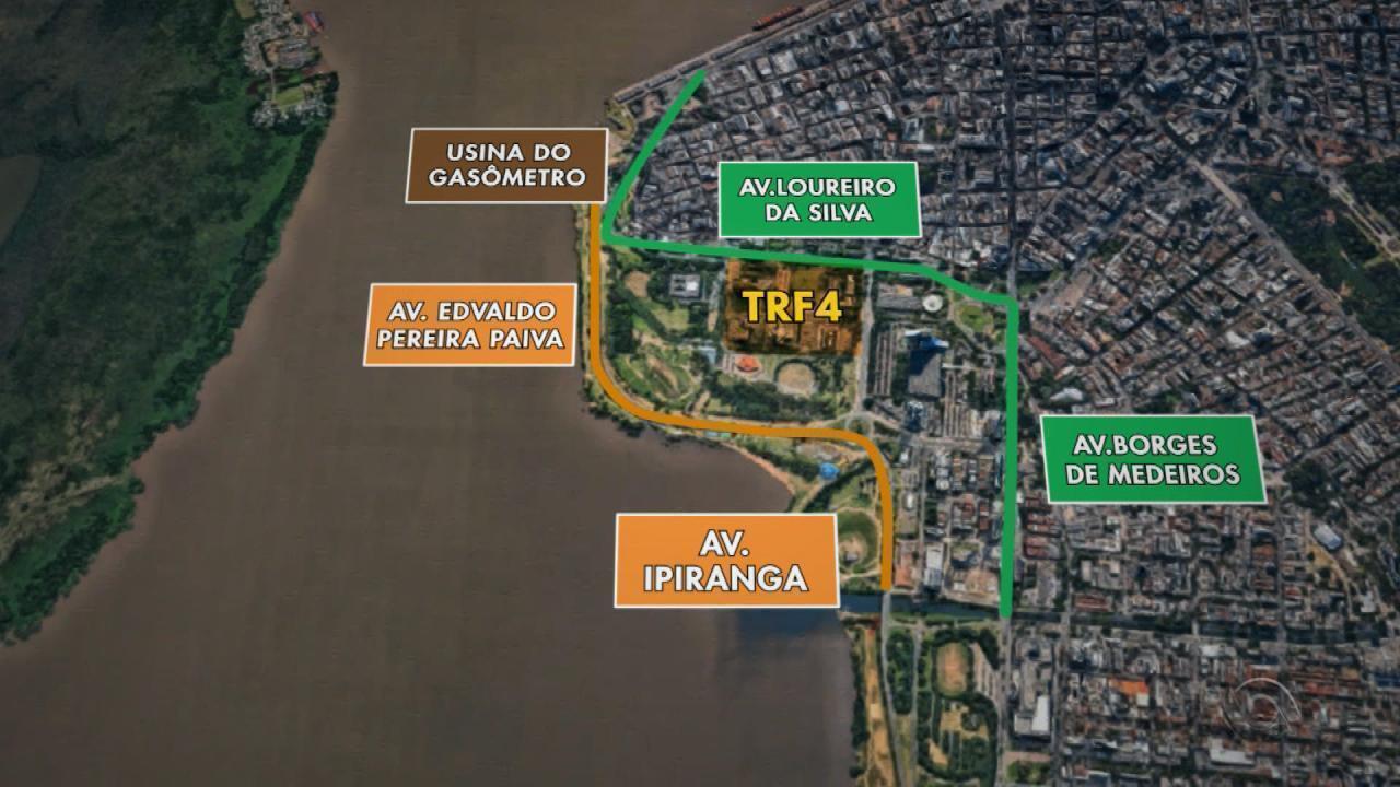 Trânsito de Porto Alegre terá bloqueios em função do julgamento do ex-presidente Lula