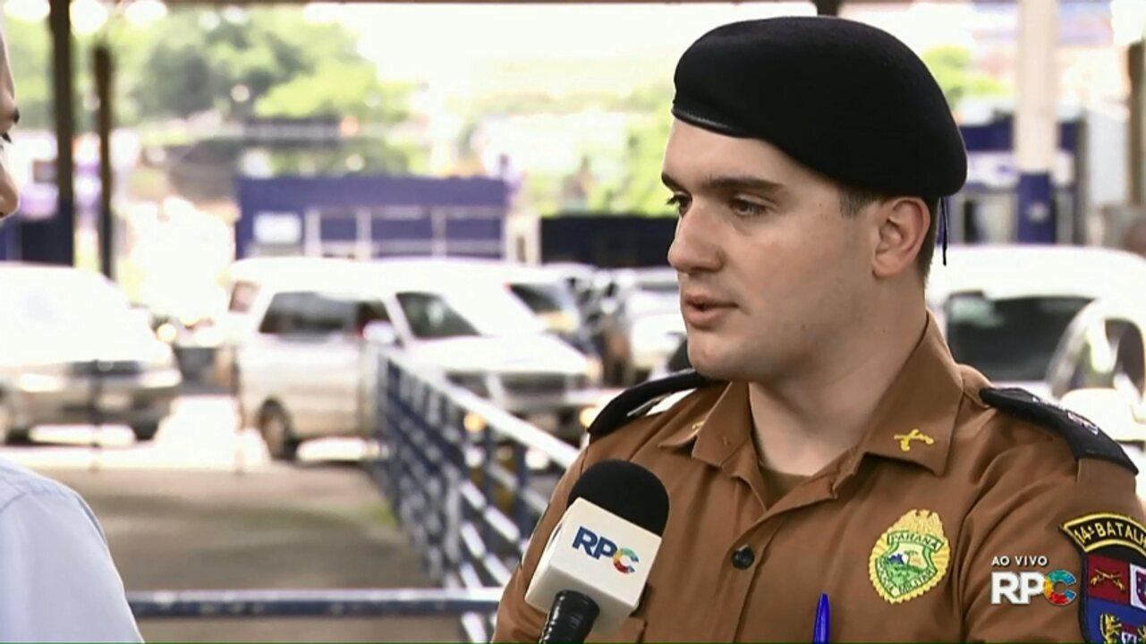 Assaltante trocam tiro com policiais na Ponte Internacional da Amizade