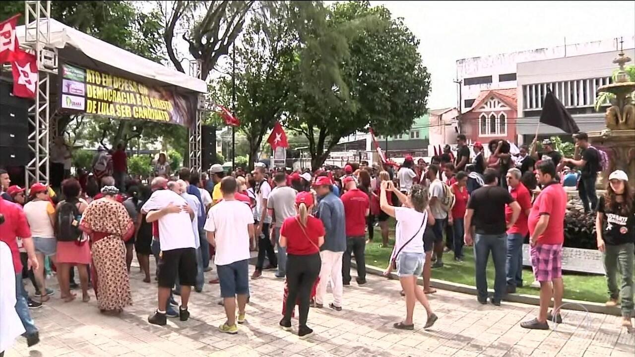 Grupos favoráveis e contrários ao ex-presidente Lula se manifestaram em 24 capitais