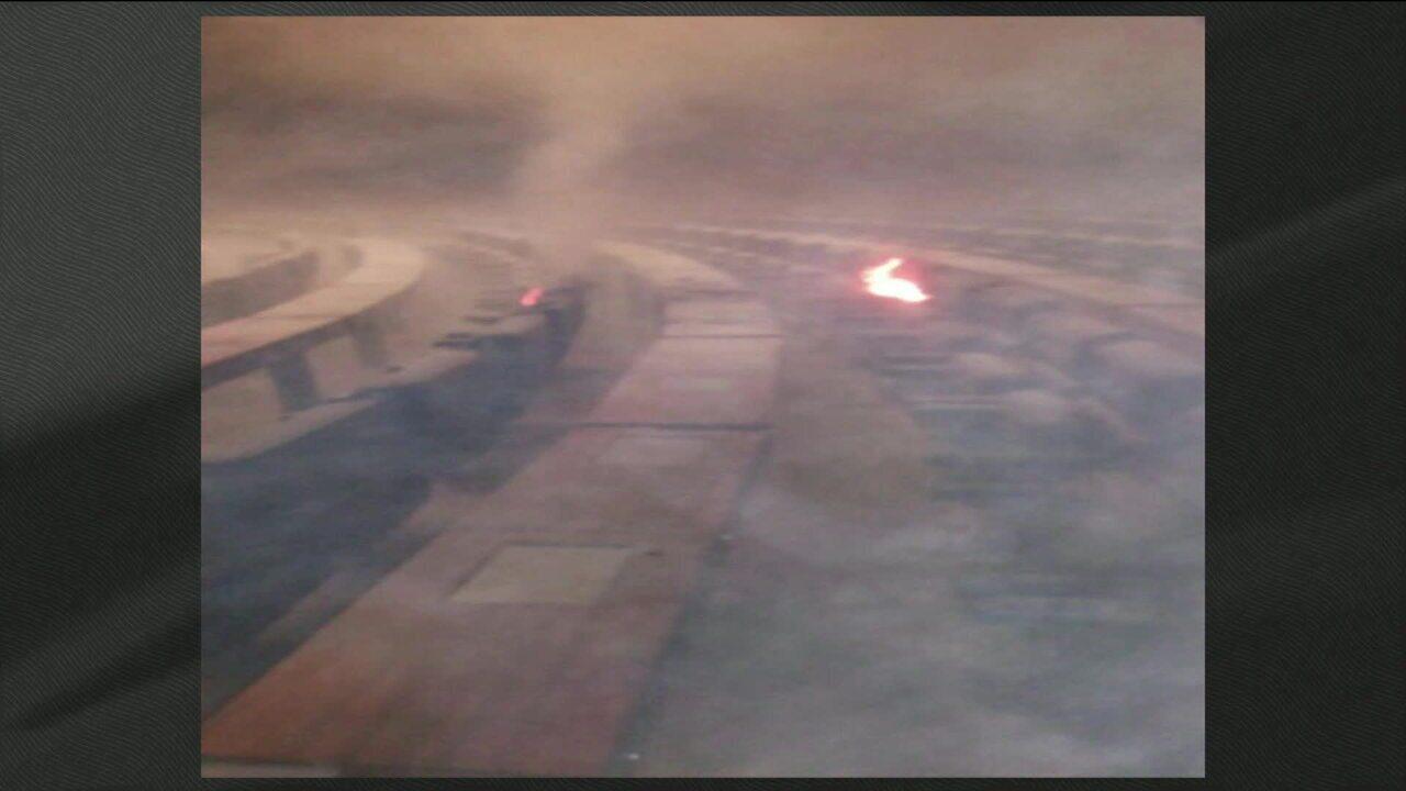 Princípio de incêndio atinge plenário da Câmara dos Deputados