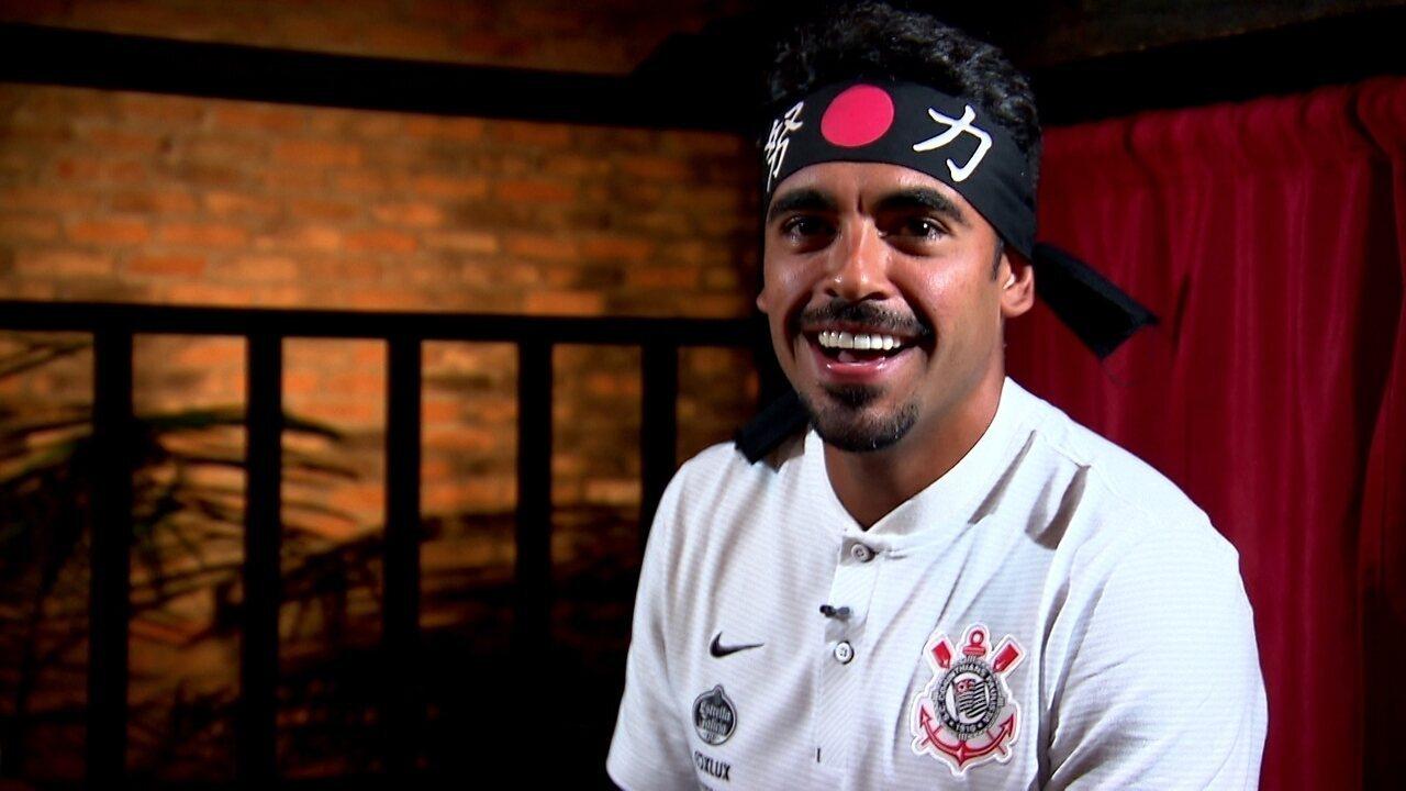 Junior Dutra manda recado em japonês em entrevista ao GloboEsporte.com
