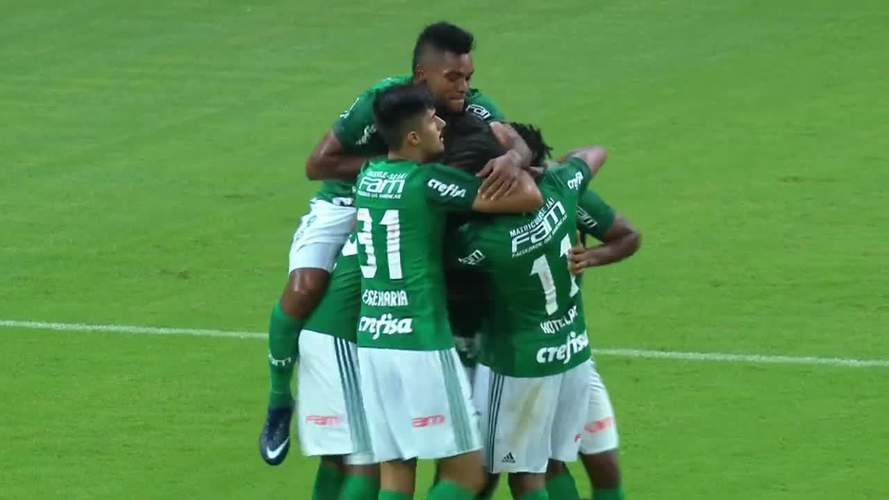 Os gol de Palmeiras 2 x 1 RB Brasil pela 3ª rodada do Paulista