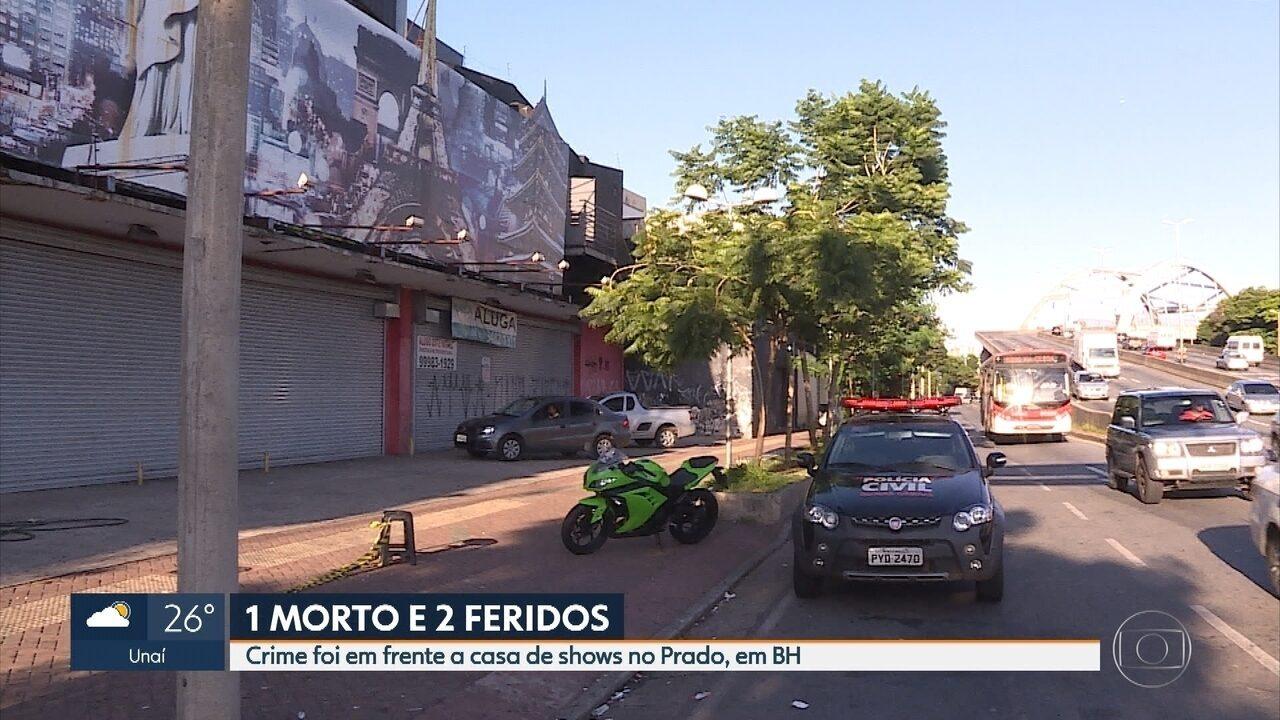 Homem é morto em frente a casa de shows na Região Oeste de Belo Horizonte