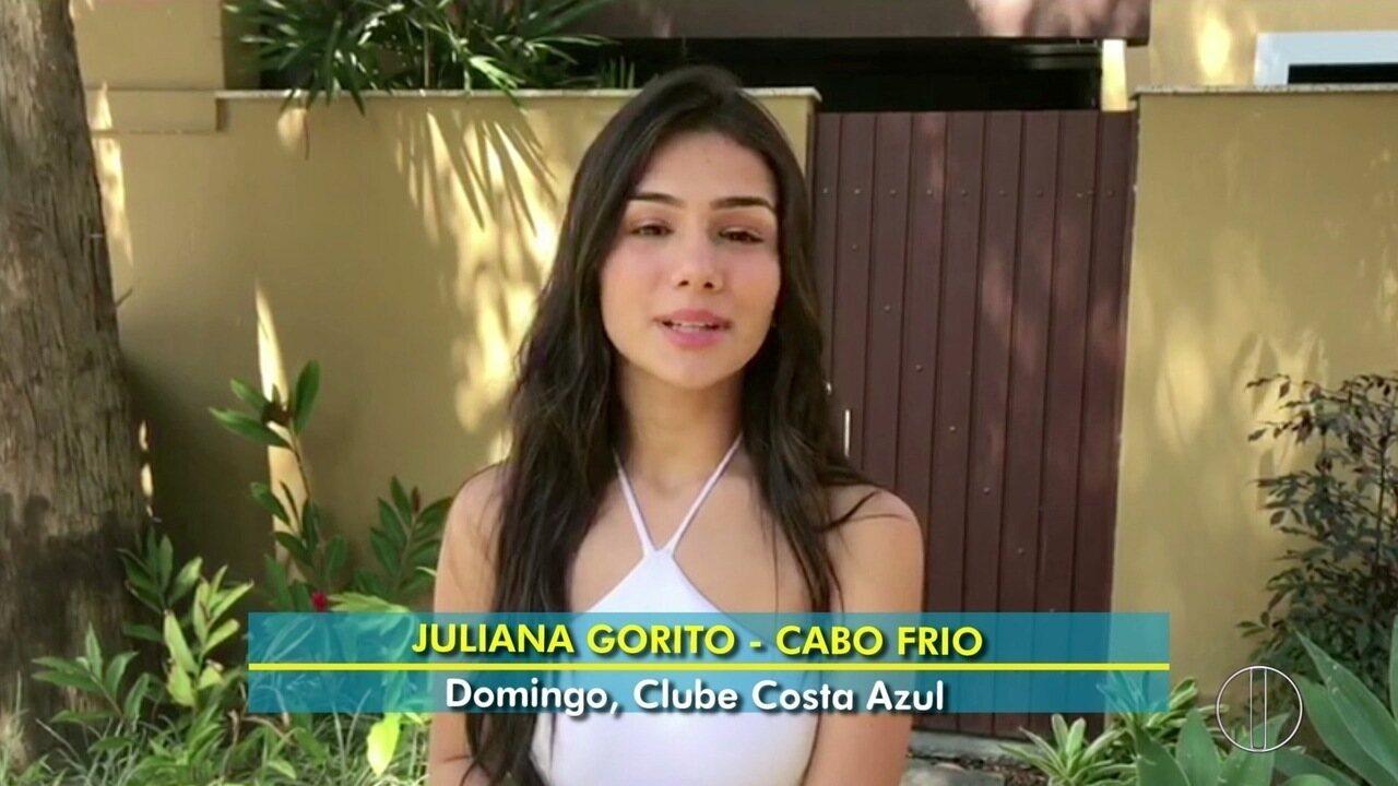 Juliana Gorito se apresenta neste domingo (28), no Costa Azul Iate Clube, em Cabo Frio