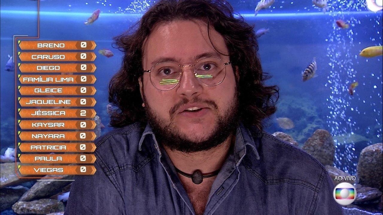 Diego vota em Jéssica