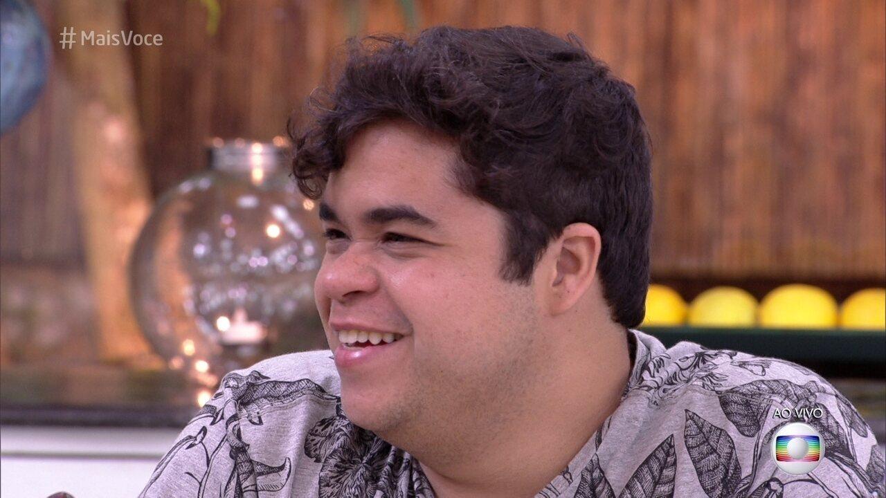 Família Lima no Mais Você: Jorge fala da relação com Ana Clara e do beijo dela em Breno