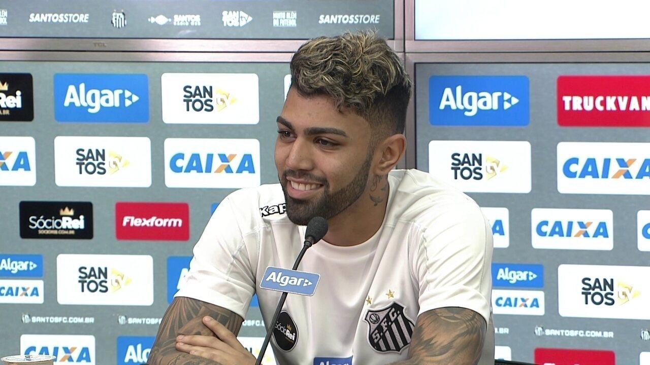 Veja o que Gabigol falou em sua entrevista de apresentação no Santos