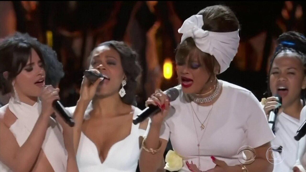 O prêmio Grammy foi palco de manifestações