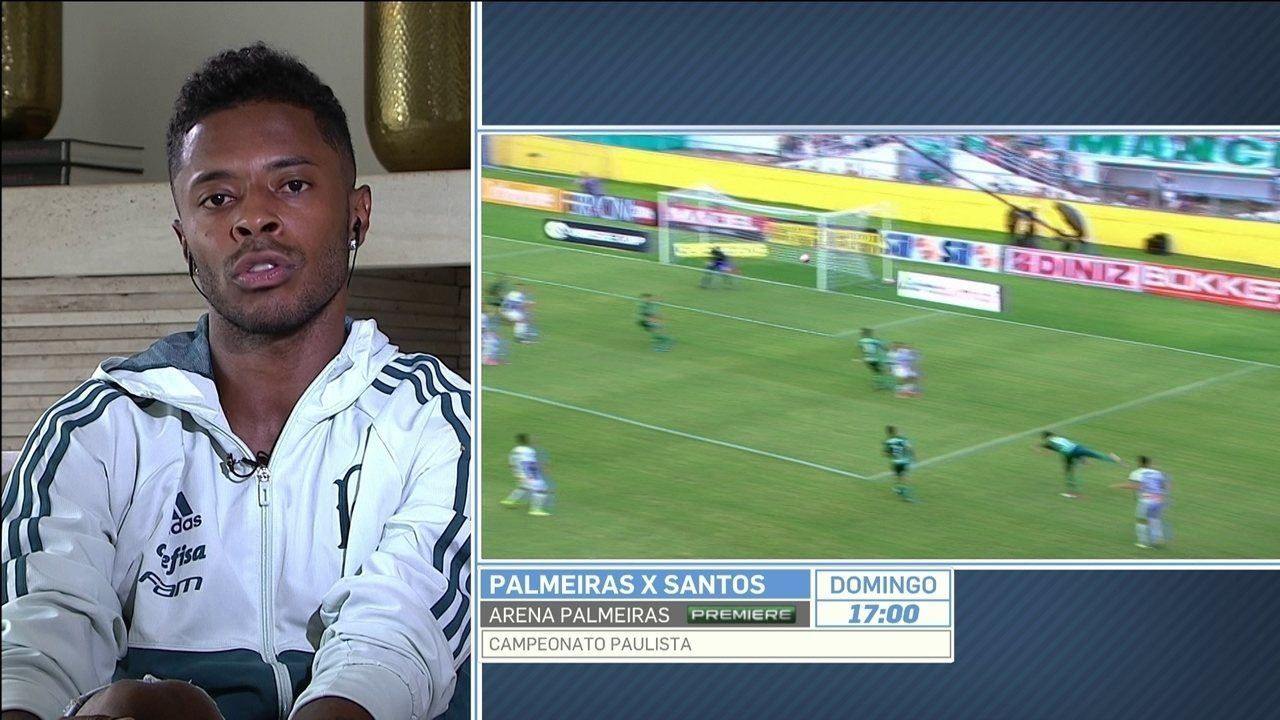 Michel Bastos diz que elenco grande do Palmeiras não atrapalha:
