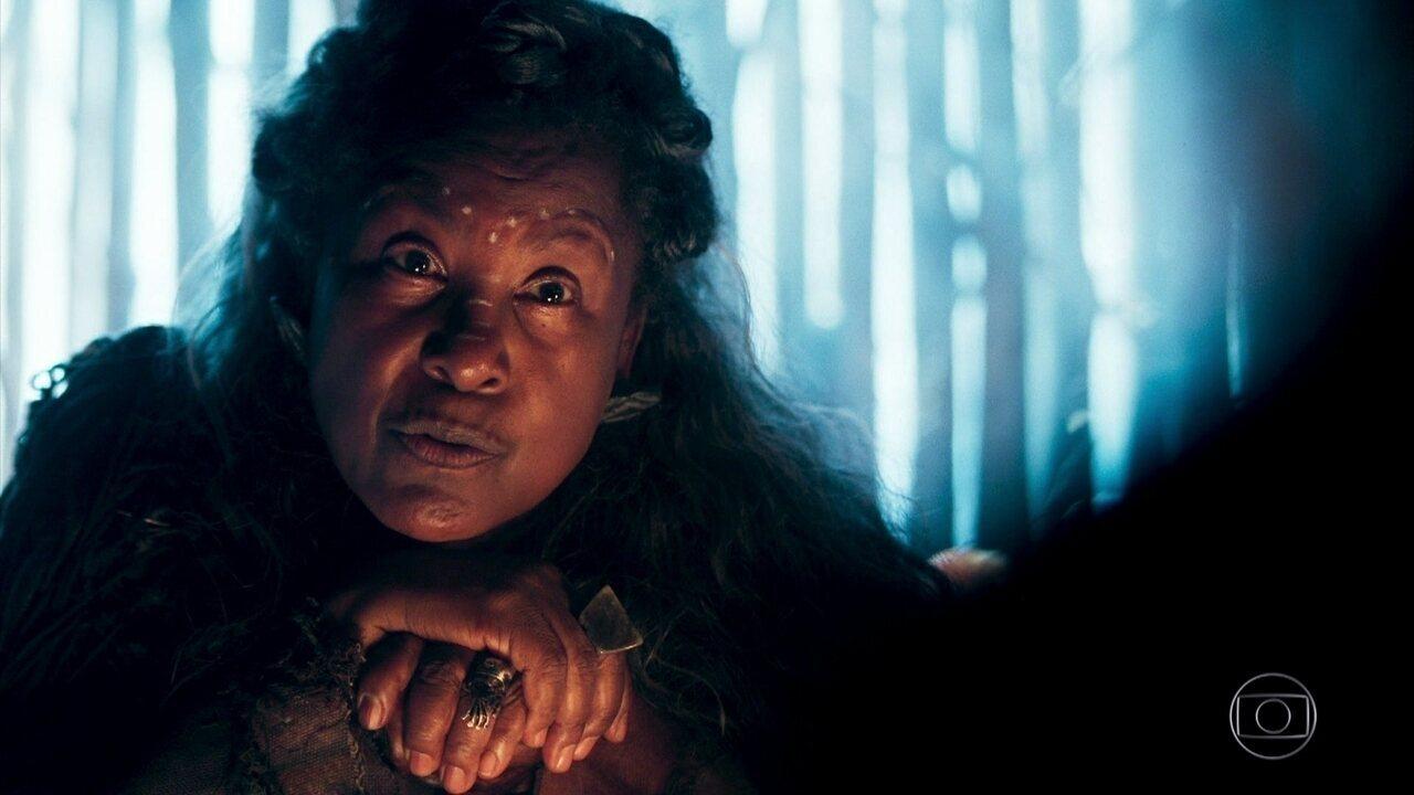 Rodolfo vai até a mandingueira e ela diz que Brice se alimenta de homens
