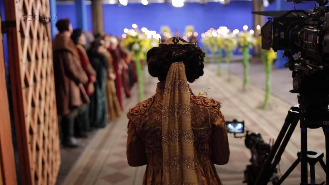 Veja como foi feita a cena de casamento de Rodolfo e Lucrécia