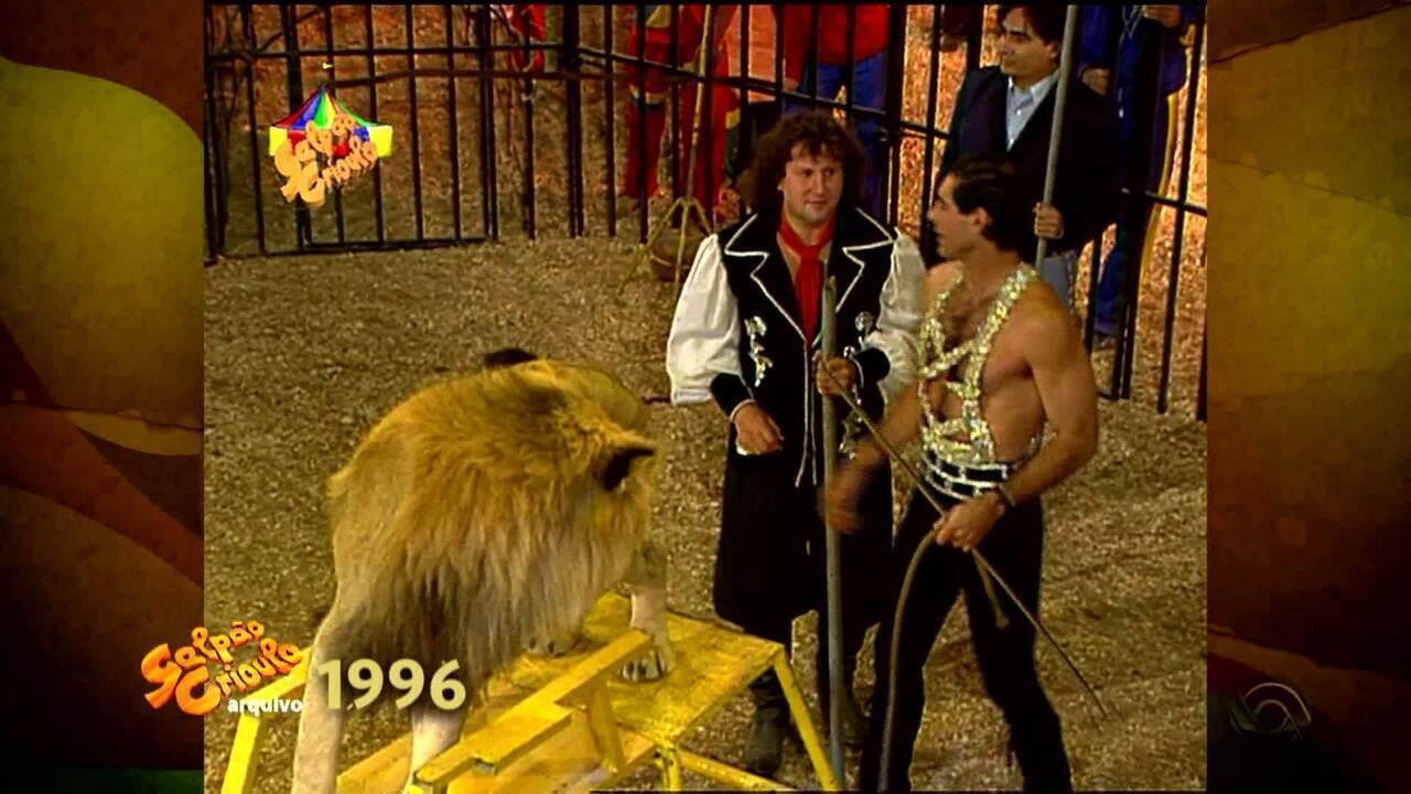 Recuerdos:Daniel Torres relembra 'Galpão' de 1996 gravado em um circo