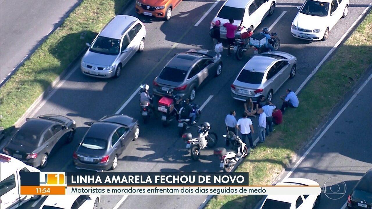 Violência na Linha Amarela preocupa motoristas e moradores
