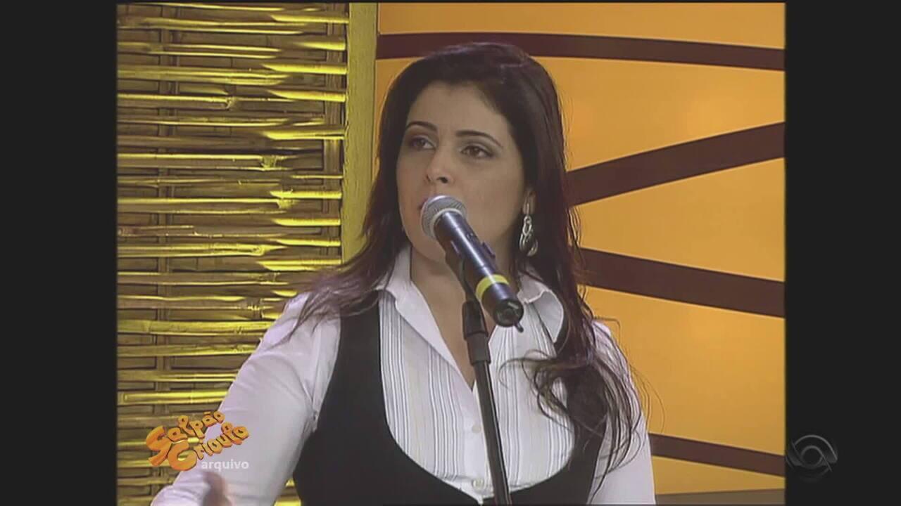 Recuerdos: relembre a pré-estreia de Shana Müller como apresentadora do 'Galpão', em 2012