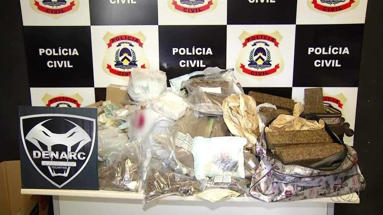 Mais de duas toneladas de drogas foram apreendidas pela polícia do Tocantins em 2017