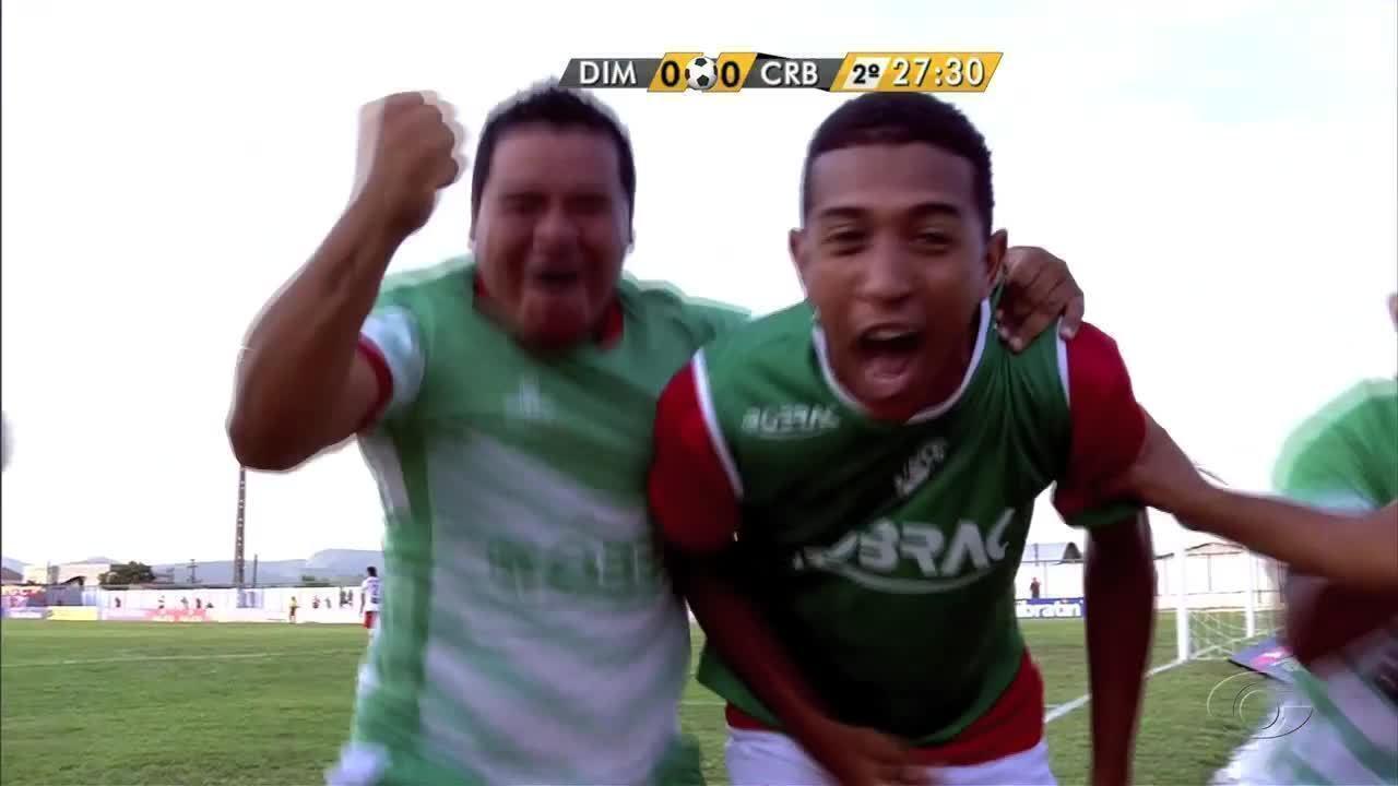 Drey aproveita corte errado de Edson Borges faz o gol da vitória hitórica do Dimensão