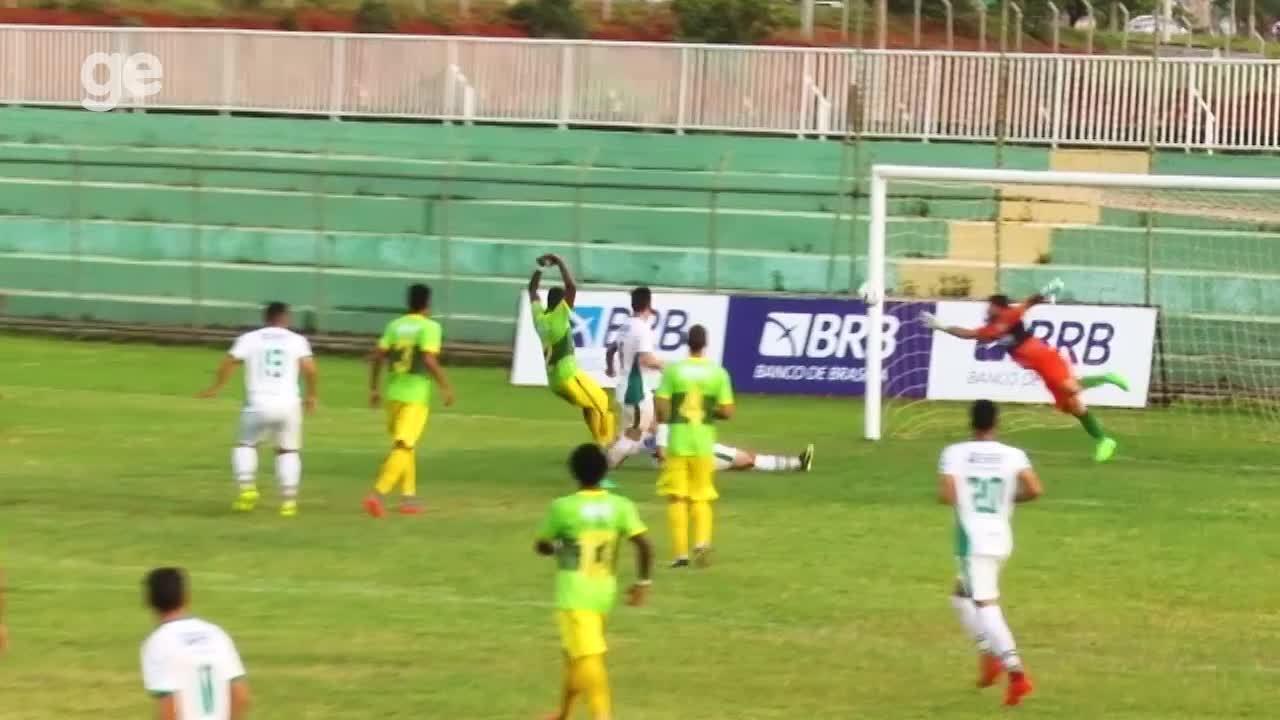 O gol de Samambaia 0 x 1 Formosa pelo Campeonato Brasiliense 2018