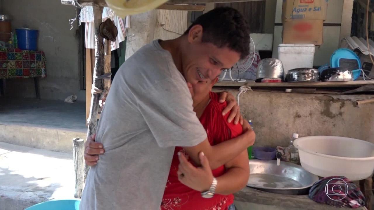 Reveja o encontro de Danilo com sua mãe no 'Caldeirão ao Cubo'