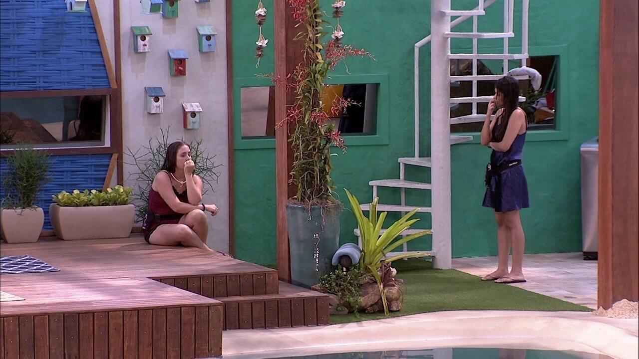 Ana Paula assume para Patrícia: 'Estou com medo de ir para o Paredão'