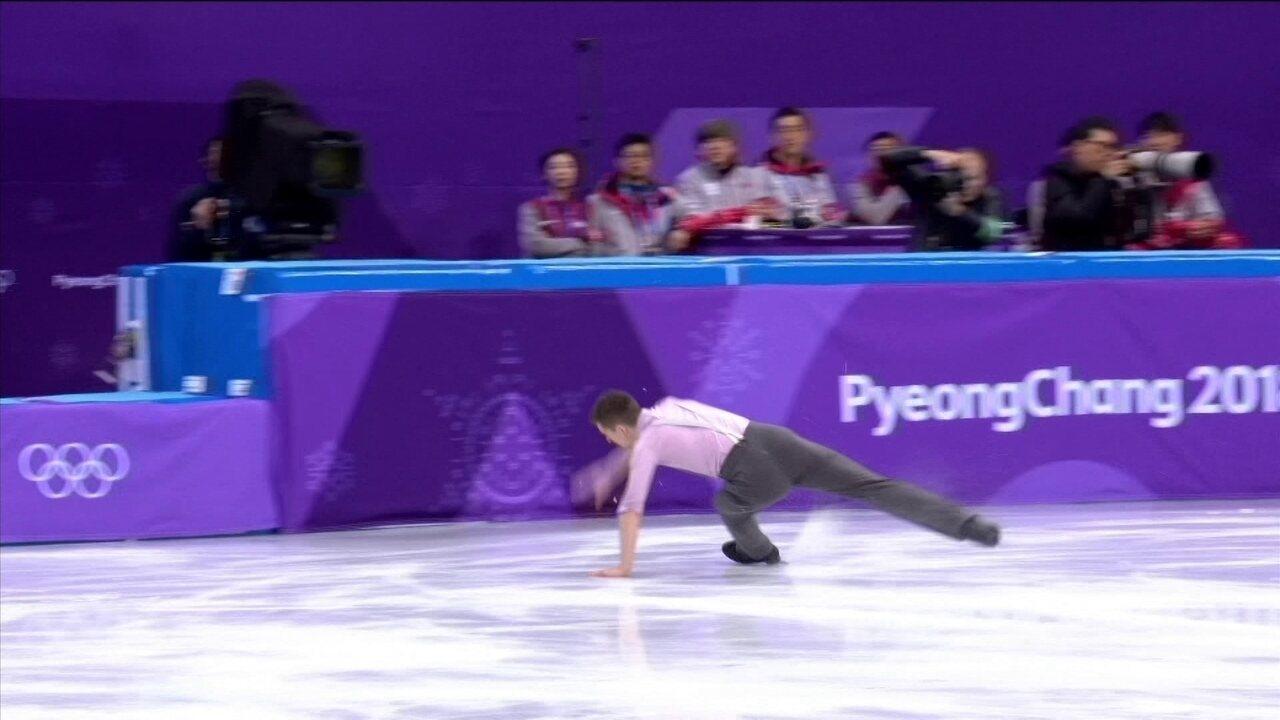 Confira algumas quedas na patinação artística na Olimpíada de Inverno de 2018