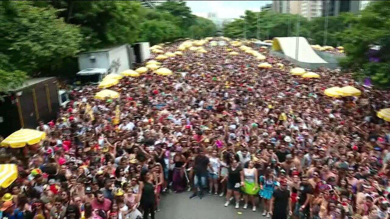 Bloco Domingo Ela Não Vai lota a Avenida 23 de Maio, em SP