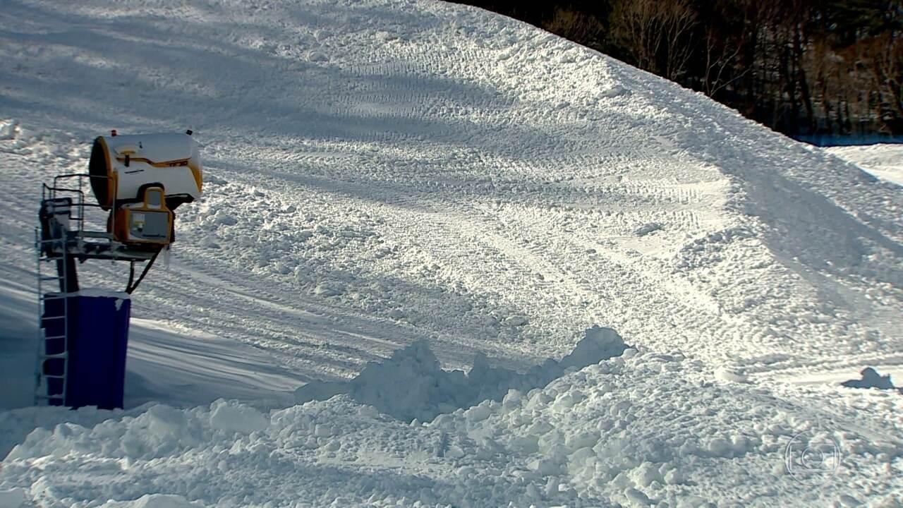 Neve usada nos Jogos Olímpicos de Inverno é totalmente artificial