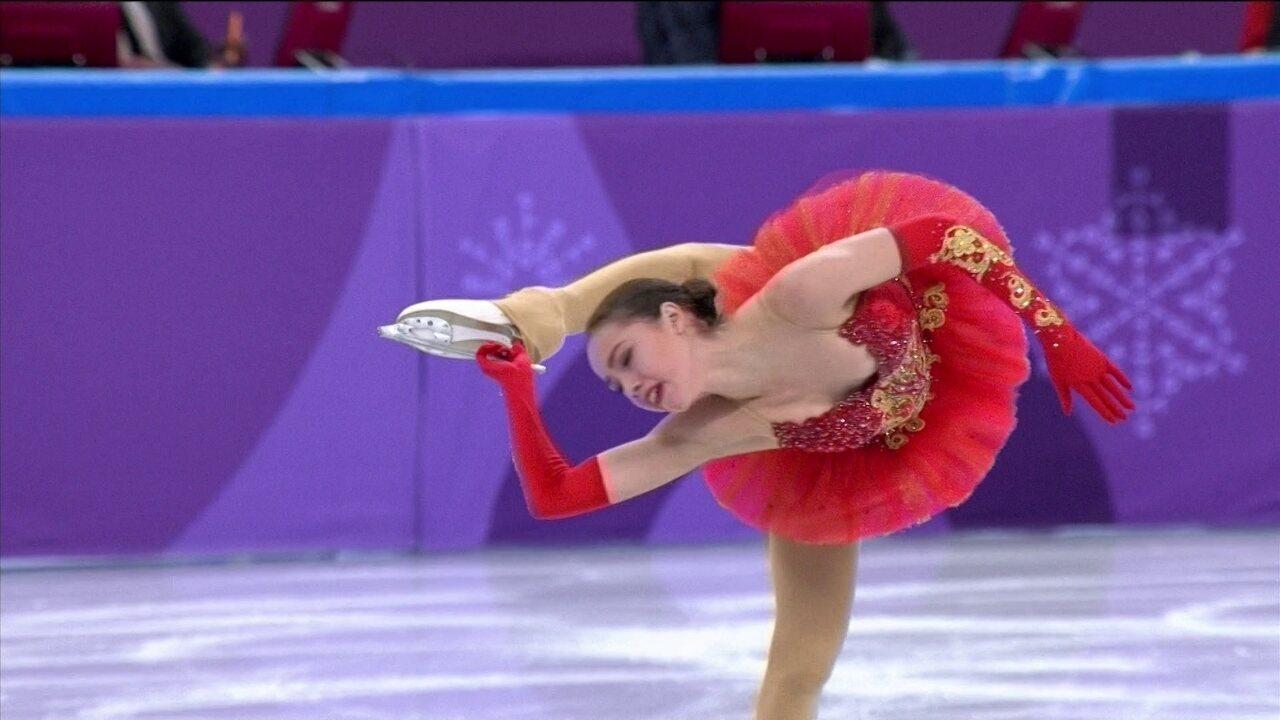 Com apenas 15 anos, Alina Zagitova bate o recorde Olímpico na Patinação artística