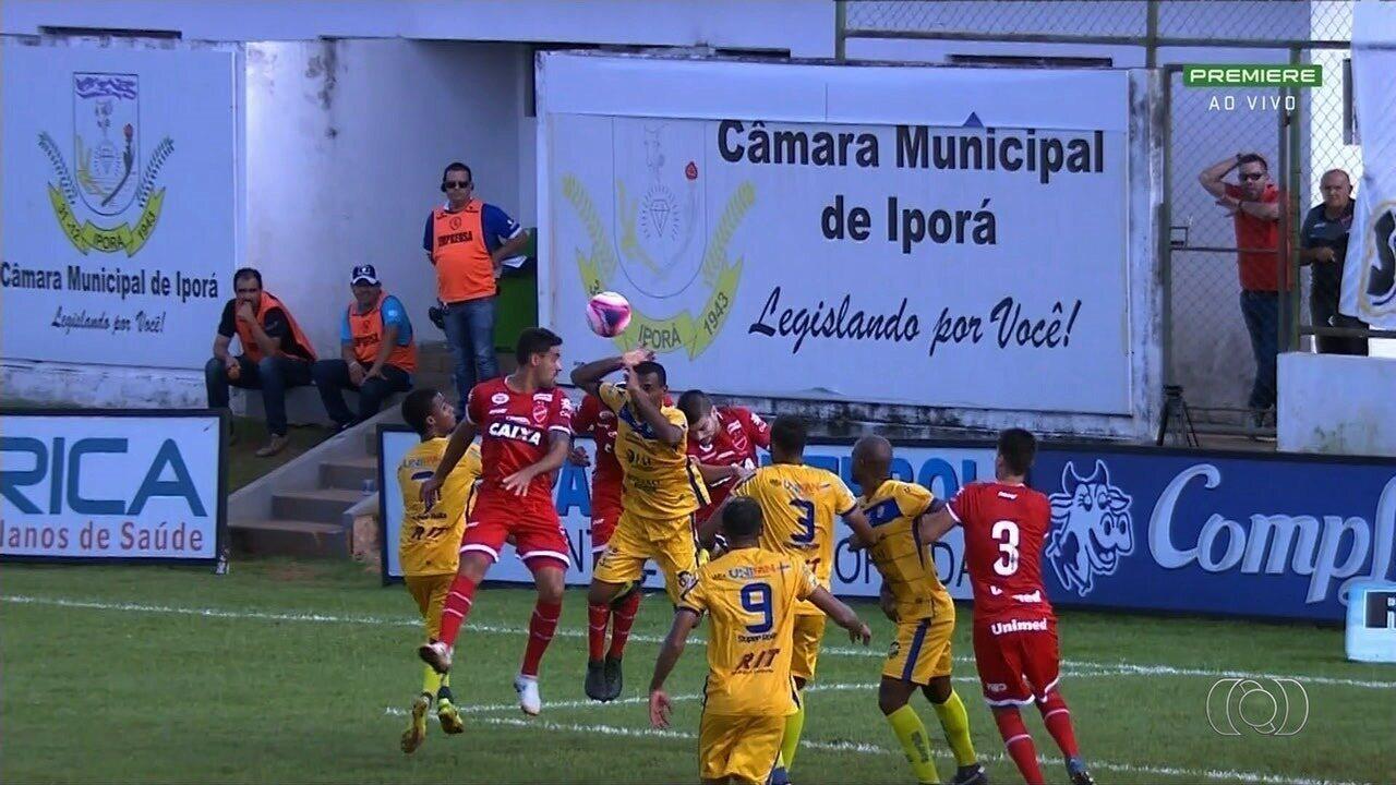 Vila Nova e Iporá empatam por 1 a 1 no Ferreirão