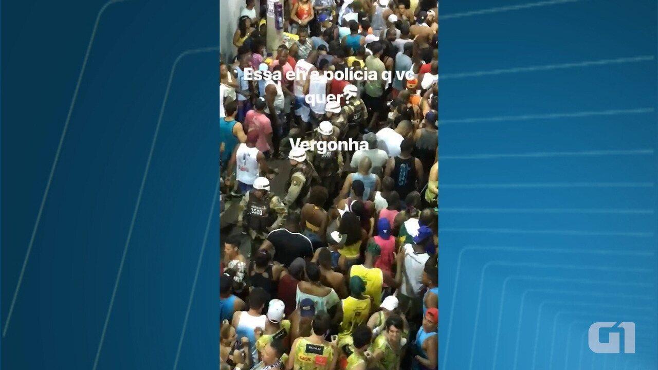 Bruno Gagliasso posta ação da PM e da Guarda Municipal no Carnaval de Salvador