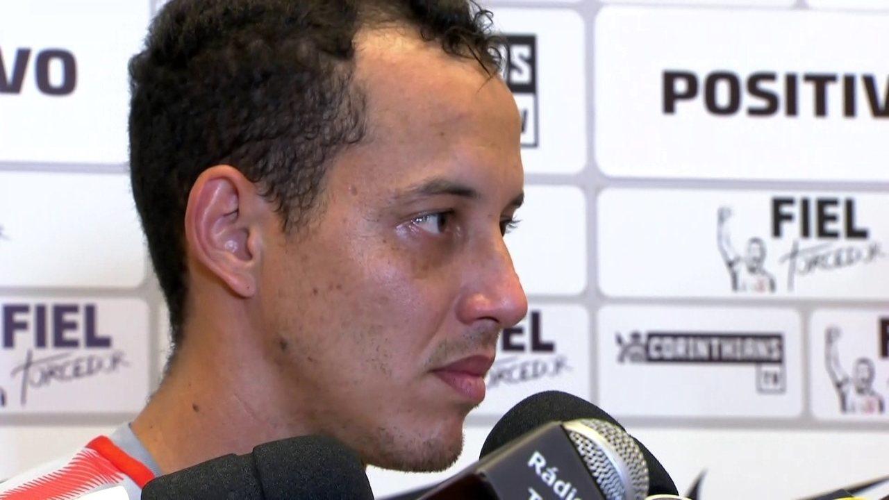 Veja o que Rodriguinho falou depois do treino do Corinthians na segunda-feira