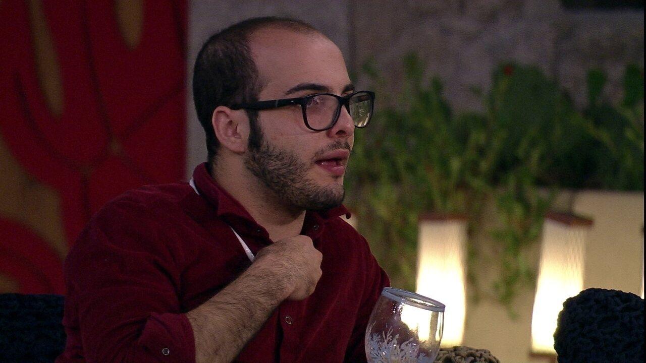 Mahmoud diz a Diego: 'Não quero soar como alguém que arma para as pessoas irem ao Paredão'
