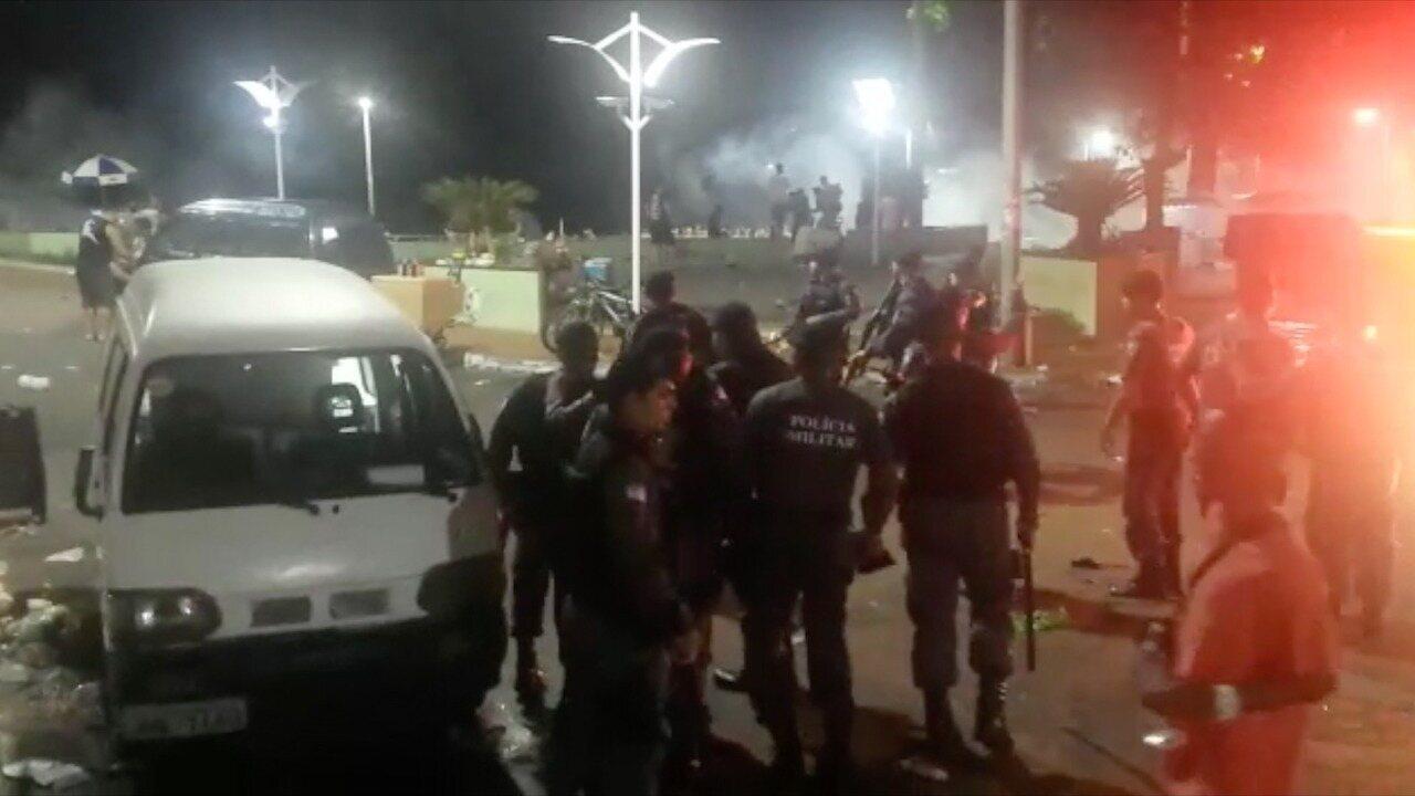Carnaval de Guarapari termina com preso e garota atingida por bala de borracha
