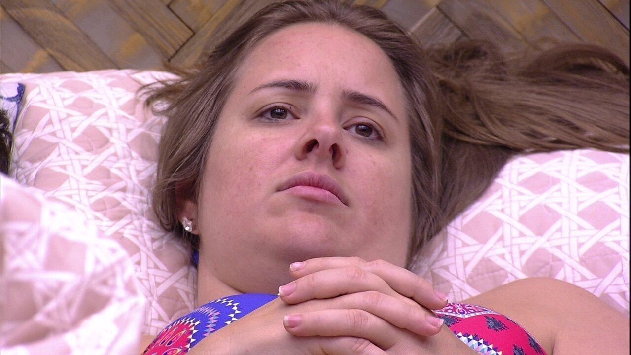 Patrícia comenta sobre Jéssica: 'Virou dona de casa agora'