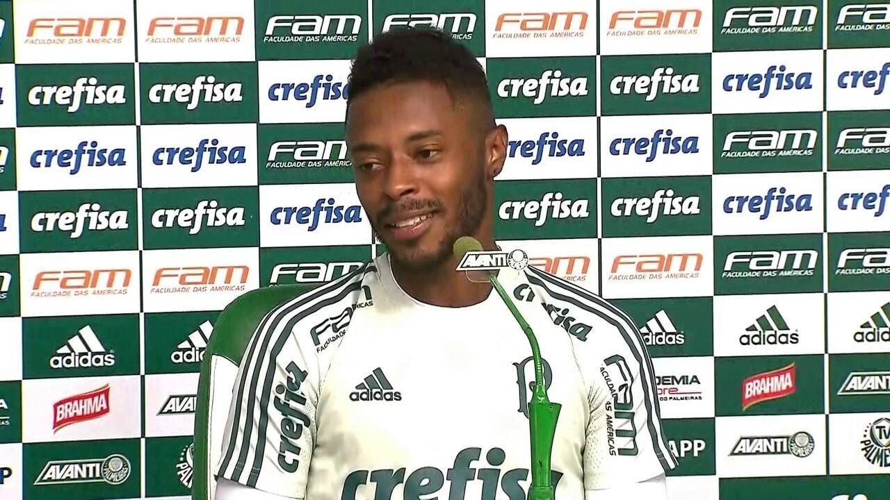 Veja o que Michel Bastos, do Palmeiras, falou em entrevista coletiva nesta terça