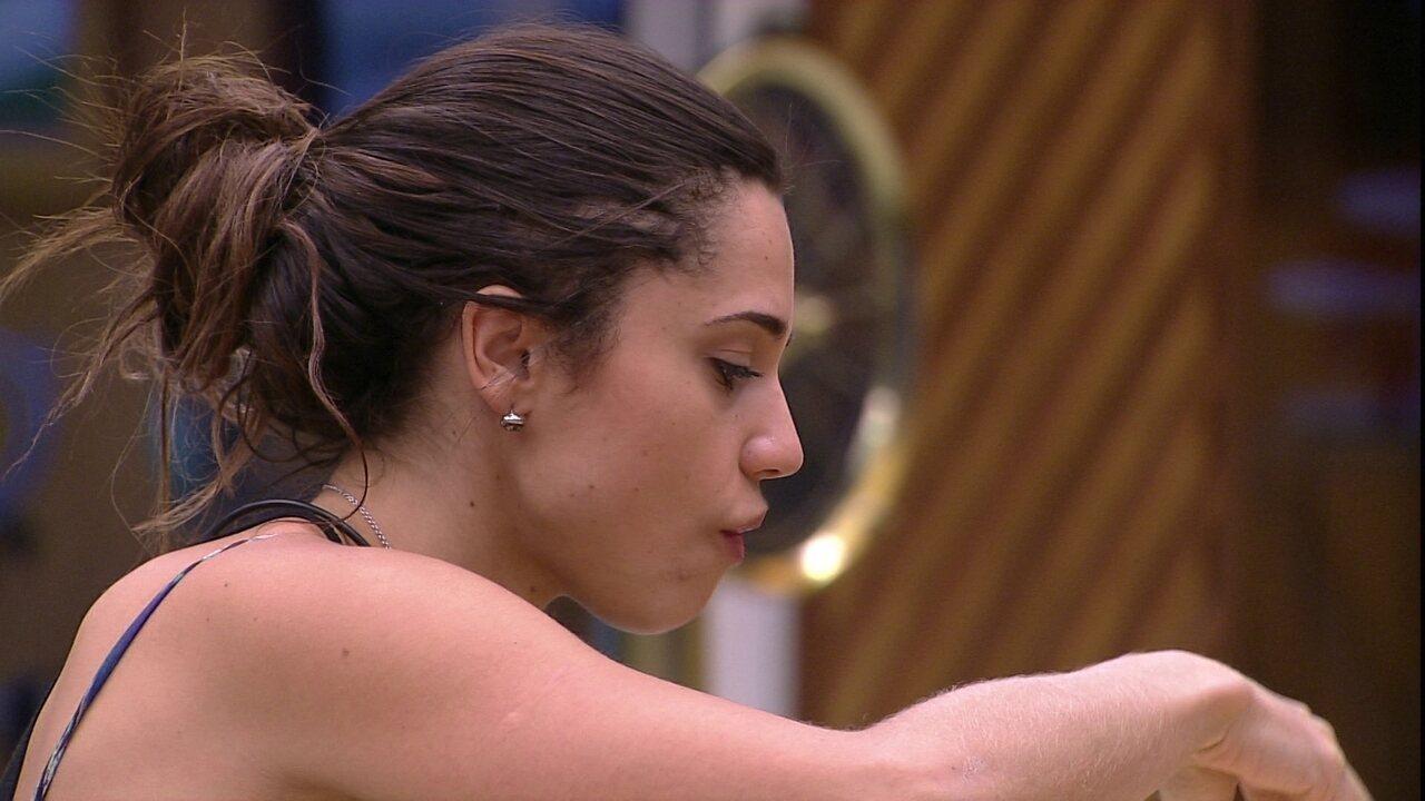 Paula diz que Diego ficou bravo pelos votos em Ana Paula: 'Não sou obrigada'