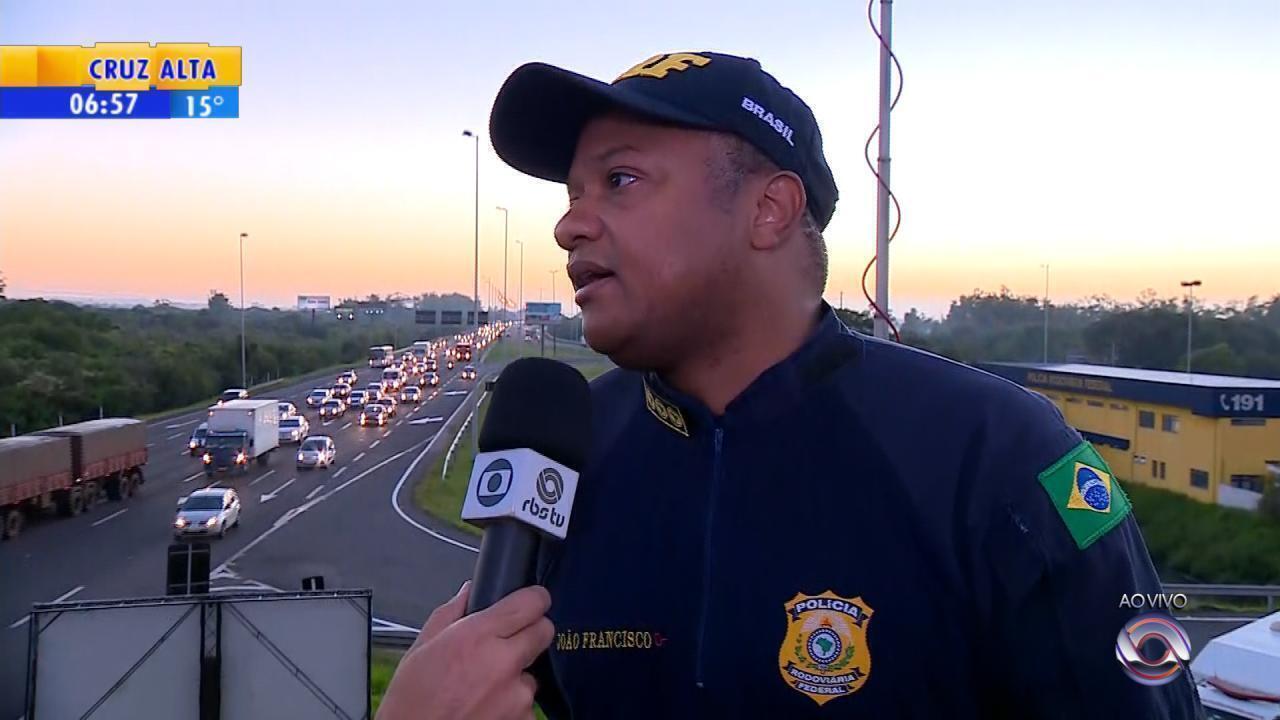 Volta do feriado de carnaval movimenta rodovias gaúchas
